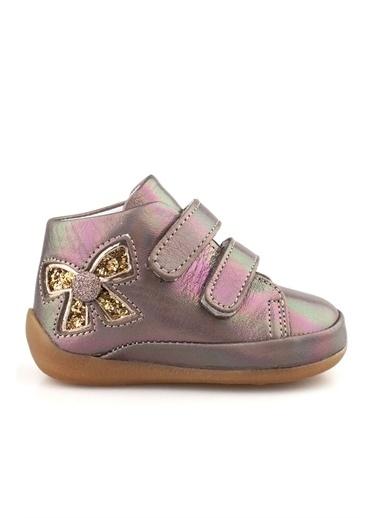 Cici Bebe Ayakkabı Deri Kız Çocuk Bot Bronz
